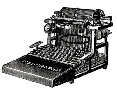 Steampunk typewriter