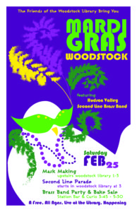 MARDI GRAS is coming to WOODSTOCK - a Party in Motion @ Woodstock Public Library District | Woodstock | New York | United States