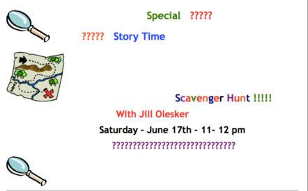 Scavenger Hunt Story Time @ Woodstock Library | Woodstock | New York | United States