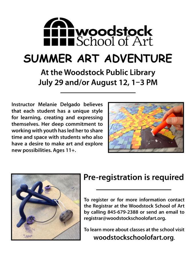 Woodstock School of Art Summer Adventure @ Woodstock Library   Woodstock   New York   United States