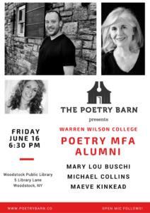 The Poetry Barn Presents: Warren Wilson College MFA Alumni @ Woodstock Library | Woodstock | New York | United States