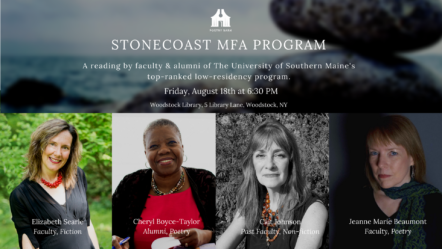 The Poetry Barn Presents: Stonecoast MFA Program Reading @ Woodstock Library | Woodstock | New York | United States