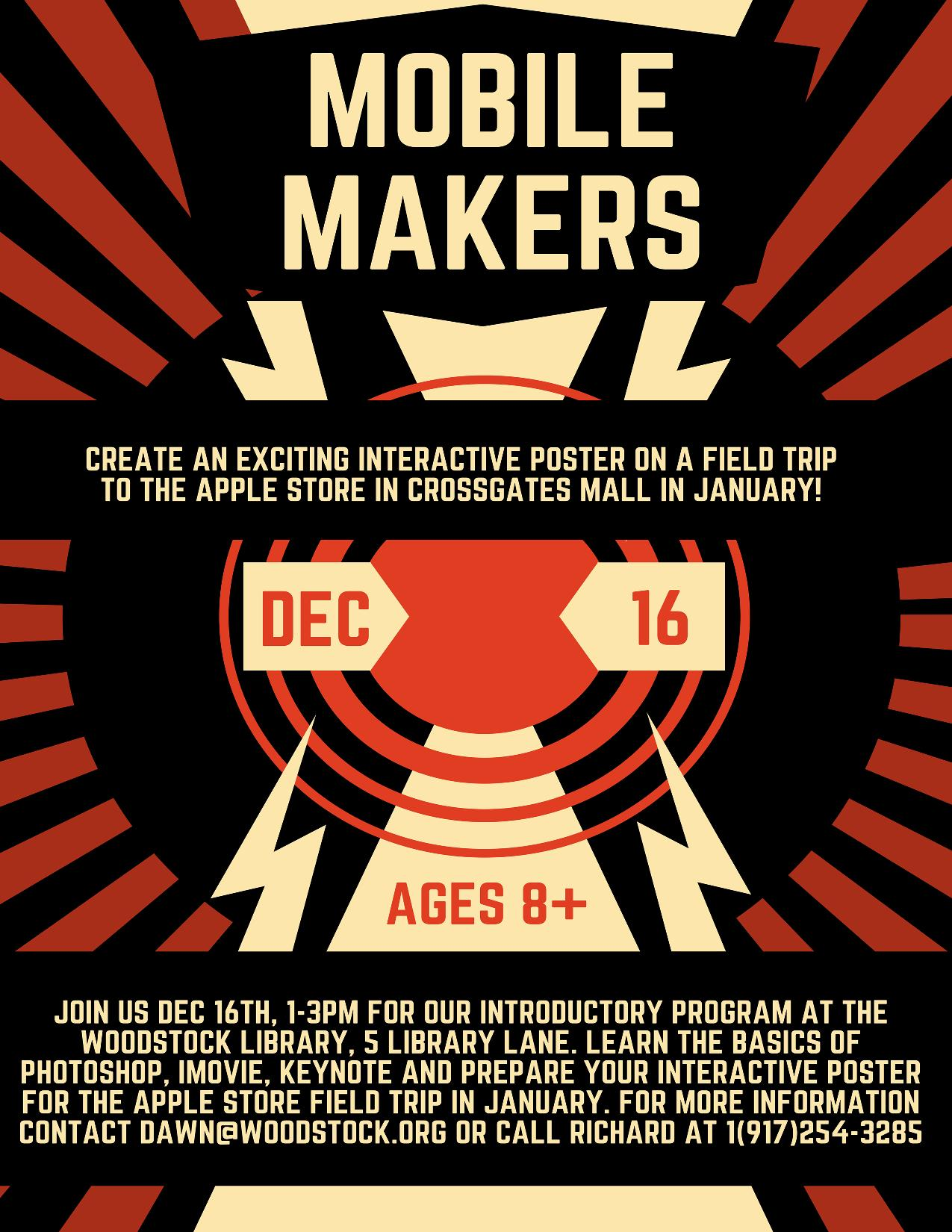 Mobile Makers @ Woodstock Library | Brookhaven | New York | United States