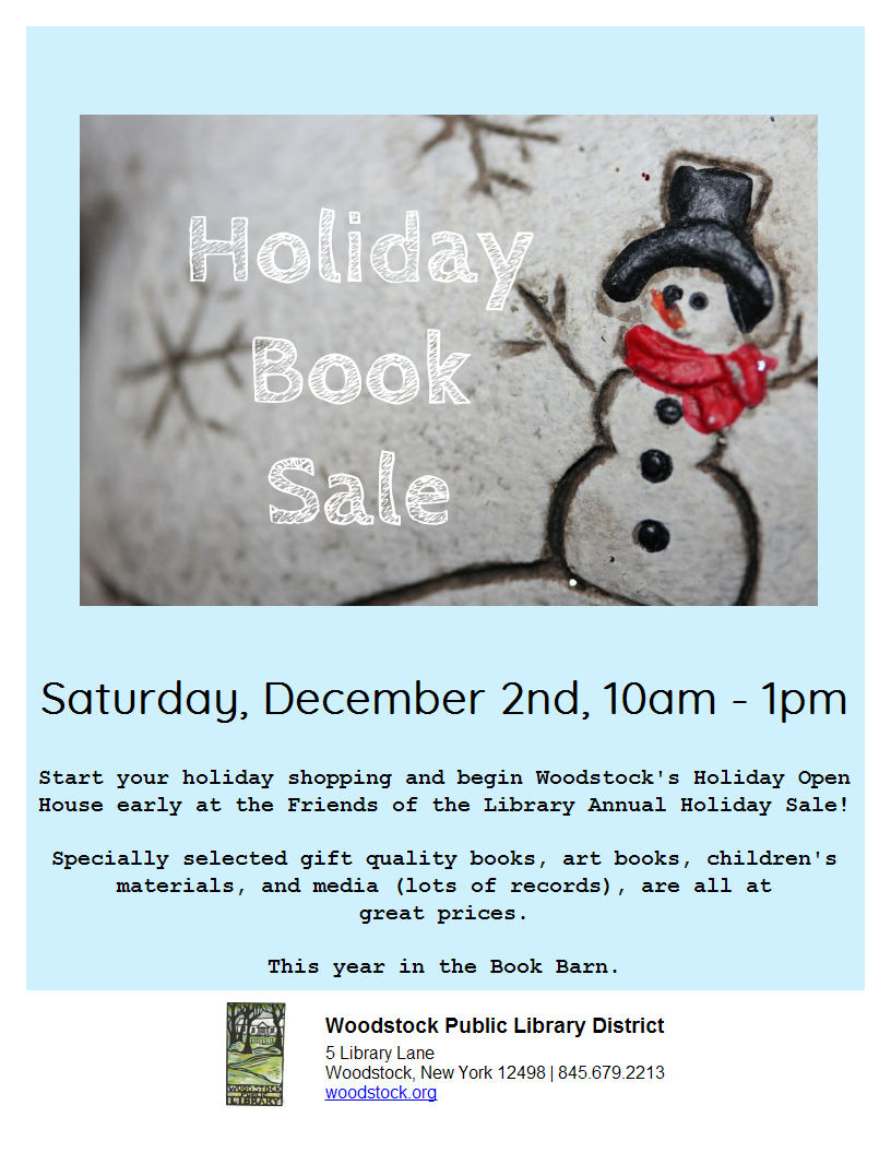 Holiday Book Sale @ Woodstock Library Book Barn | Woodstock | New York | United States