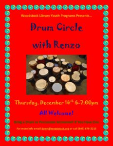 Drum Circle with Renzo @ Woodstock Library | Woodstock | New York | United States