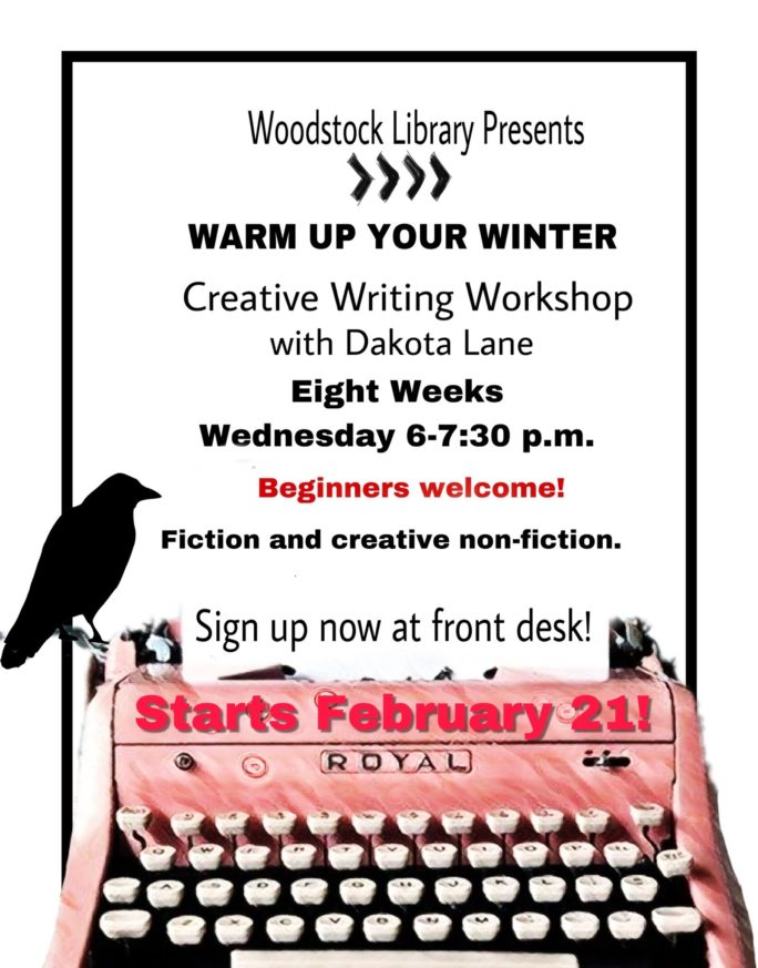 Creative Writing Workshop with Dakota Lane @ Woodstock Library | Woodstock | New York | United States