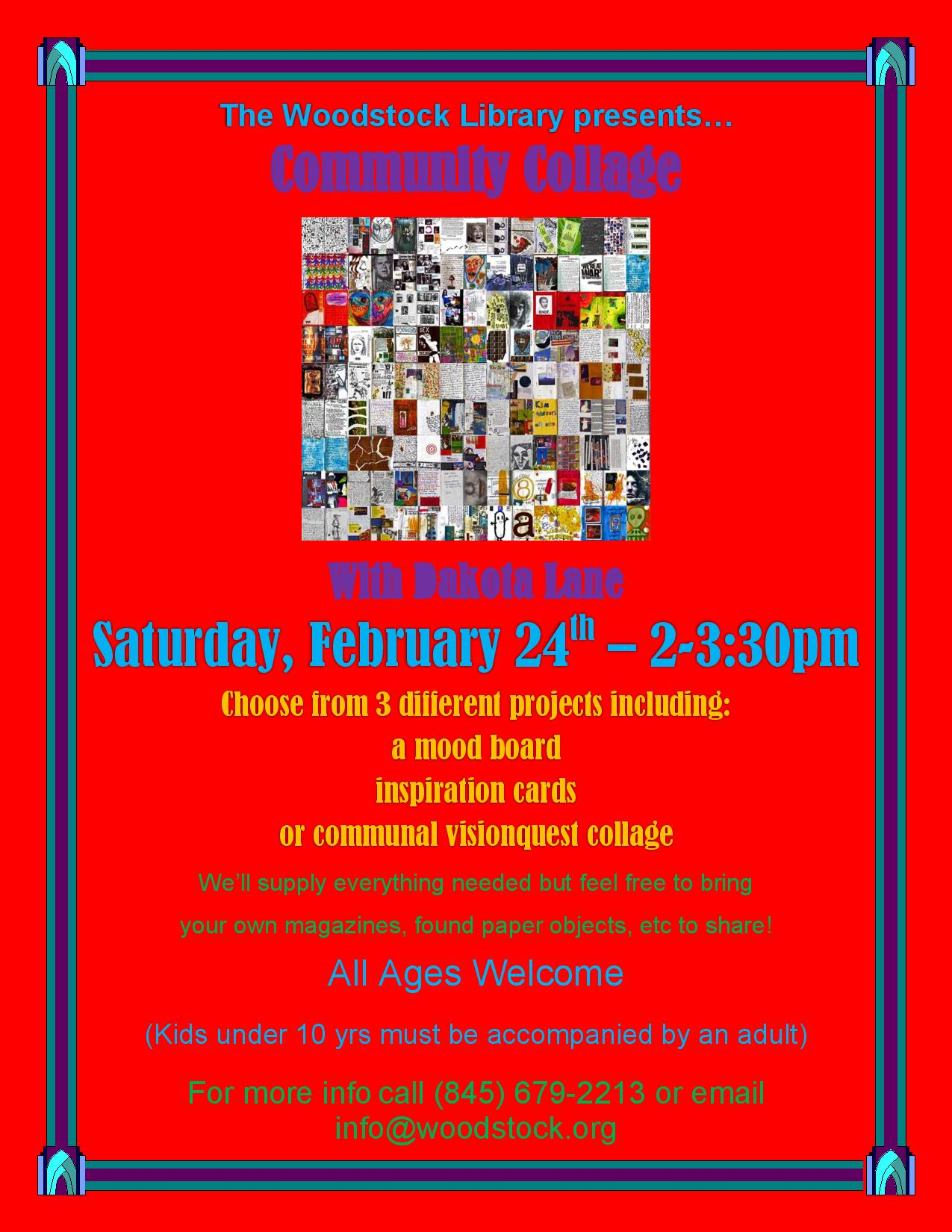 Community Collage with Dakota Lane @ Woodstock Library | Woodstock | New York | United States